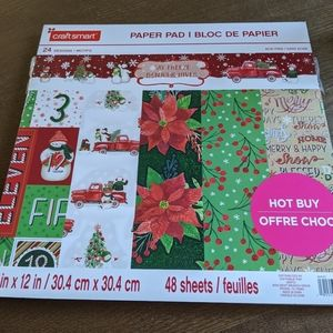 Christmas scrap book paper pad